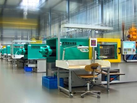The injection moulding plant
